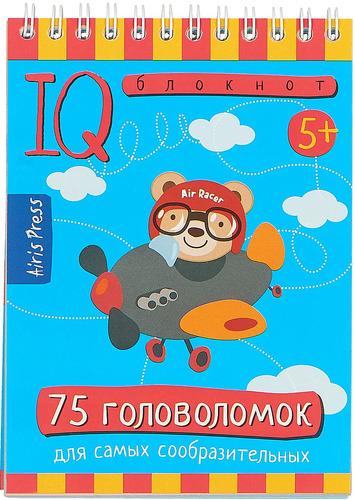 Купить Обучающая книга Айрис Умный Блокнот. 75 головоломок (25456), Айрис-пресс, Книги для развития мышления