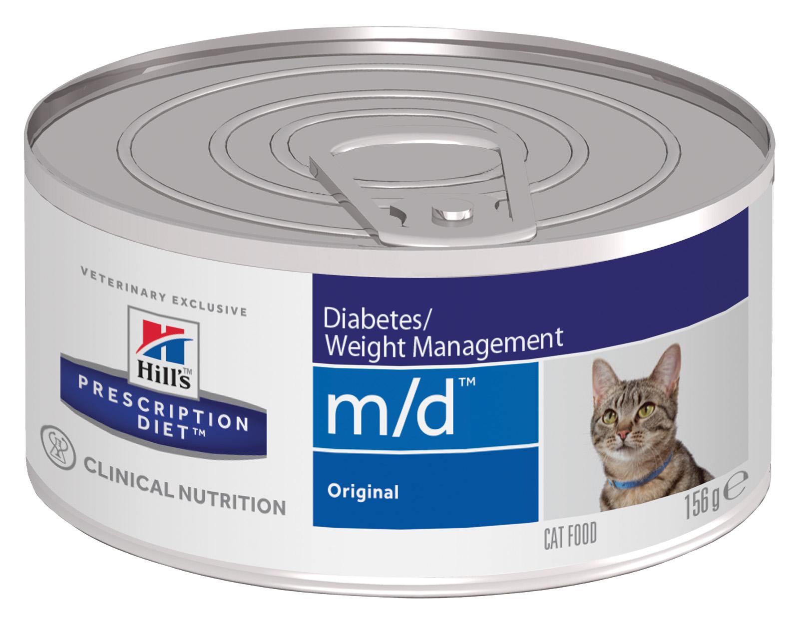 Консервы для кошек Hill\'s Prescription Diet m/d Diabetes/Weight Management, мясо, 156г