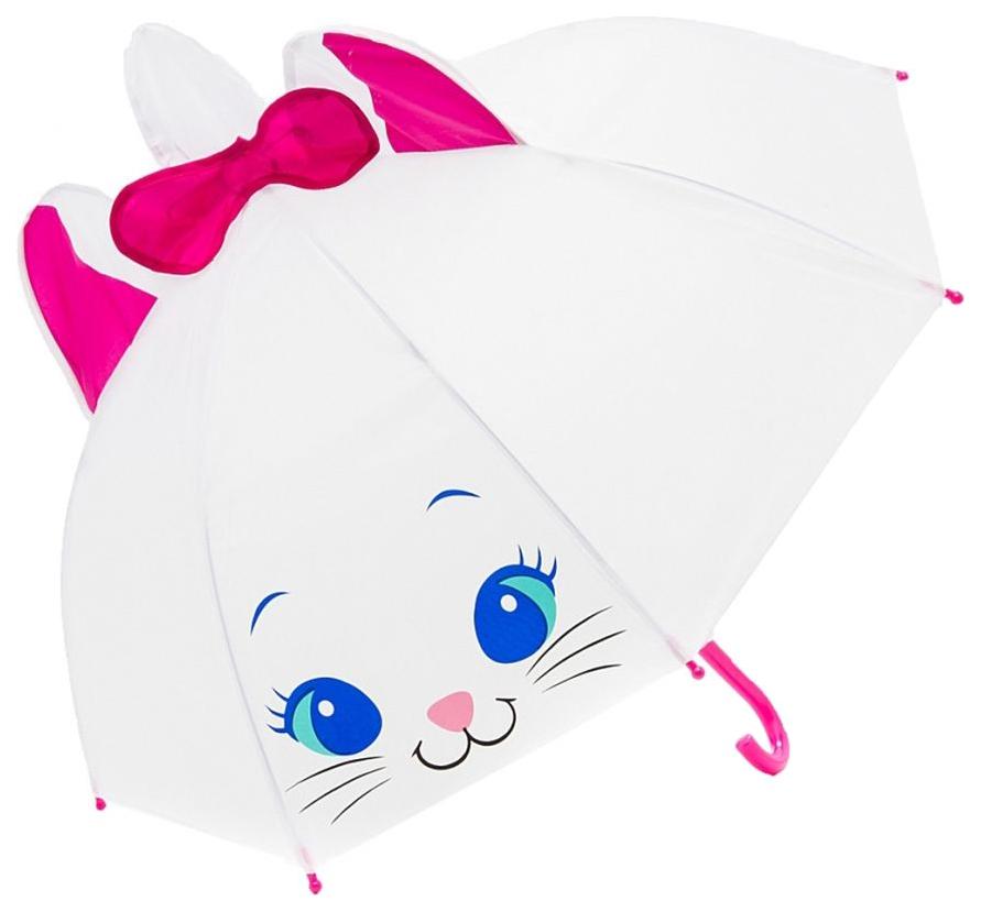 Купить Зонт детский Mary Poppins Киска 53568 белый розовый, Детские зонты
