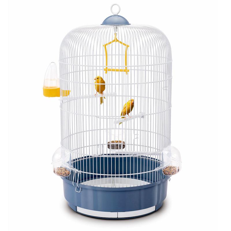 Клетка для птиц Imac LUNA, пепельно синий, круглая,