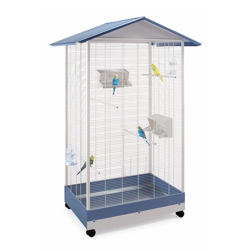 Клетка для птиц Imac PERVINCA, пепельно синий,
