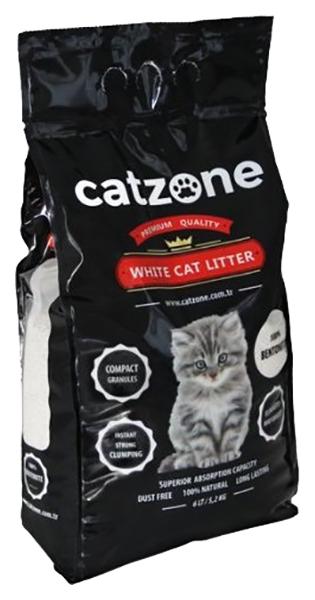 Комкующийся наполнитель для кошек Catzone Natural бентонитовый,