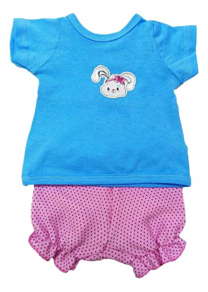 Купить Футболка и шорты Зайка 38-43 см 201 для кукол Mary Poppins, Одежда для кукол