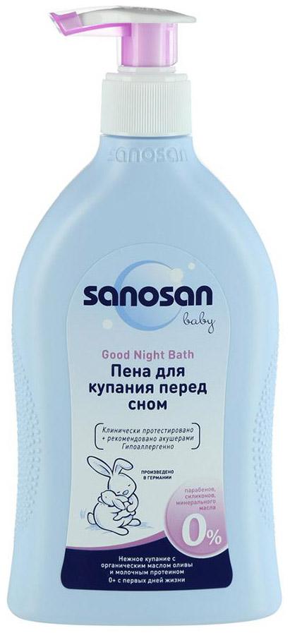 """Купить Пена для купания Sanosan """"Перед сном"""", Пена для купания Sanosan «Перед сном» Gute-Nacht-Bad 400мл,"""