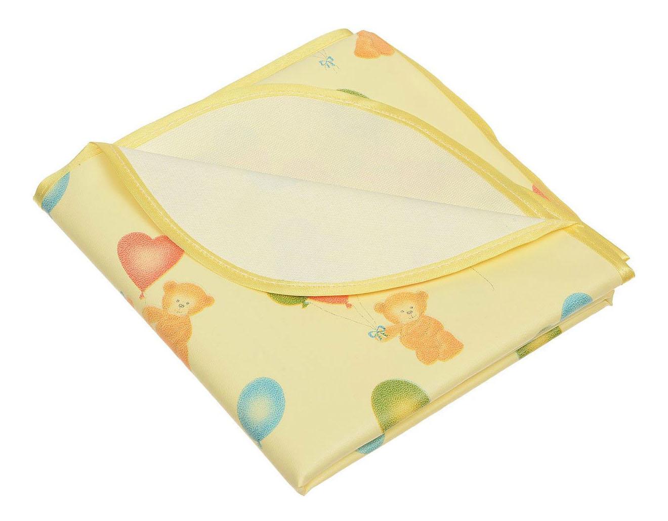 Клеенка Колорит с окантовкой Мишки, цв. желтый, 0,5 х 0,7 м фото