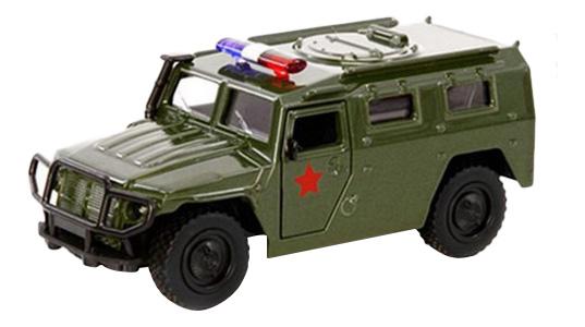 Купить ГАЗ Тигр Военный джип, Машинка металлическая ГАЗ Тигр военный Джип 1:43 Play Smart А74803 инерционная, PLAYSMART, Военный транспорт