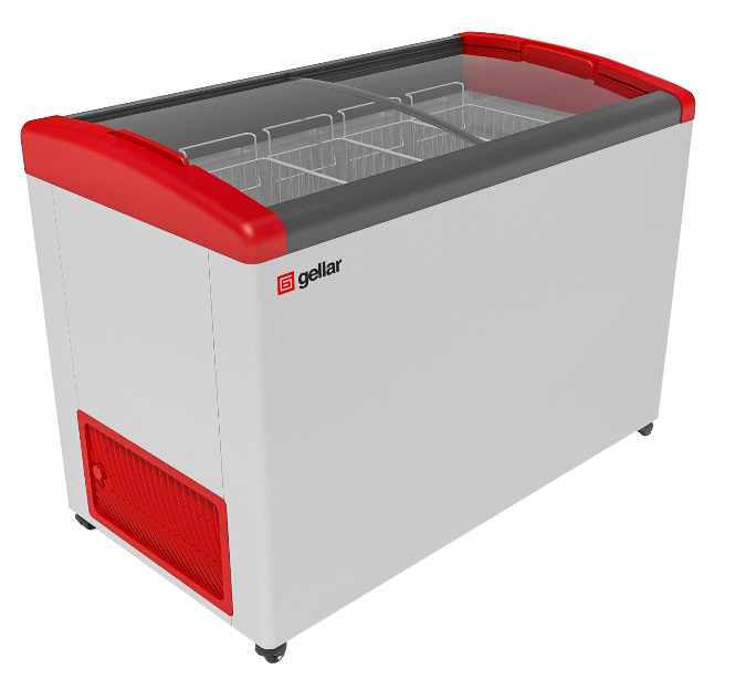 Морозильный ларь Gellar FG 500 E White/Red