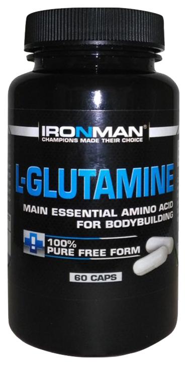 Ironman L Glutamine 60 капсул без вкуса