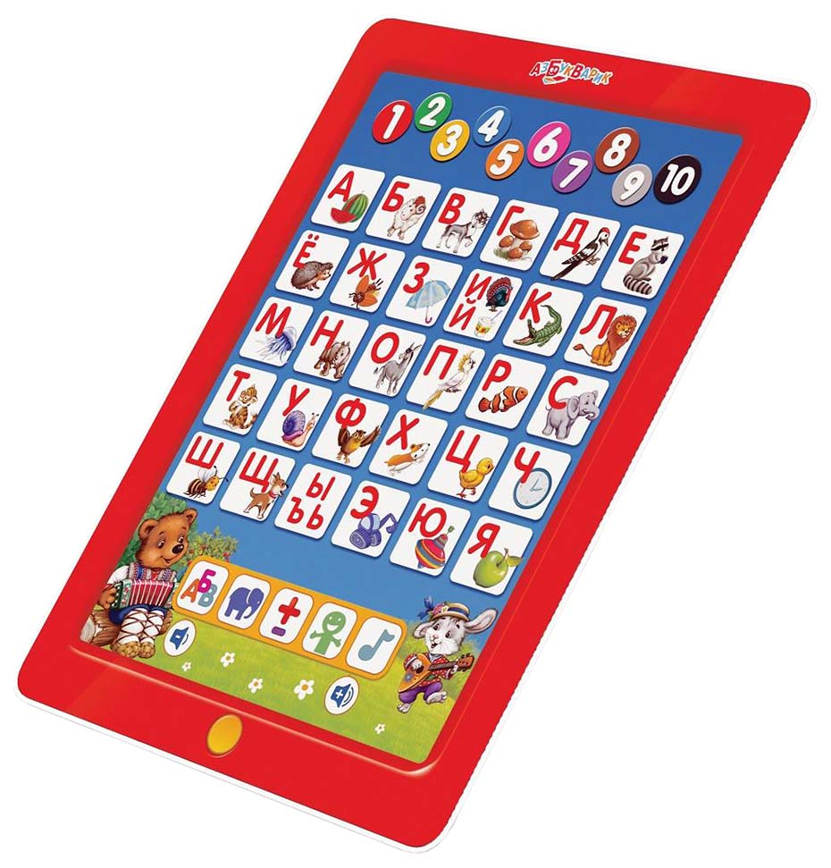 Купить Развивающая игрушка Азбукварик Мишуткин планшетик Первые знания 80390, Интерактивные развивающие игрушки