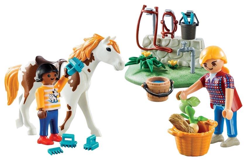 Игровой набор Playmobil Стрижка лошадей 9100pm