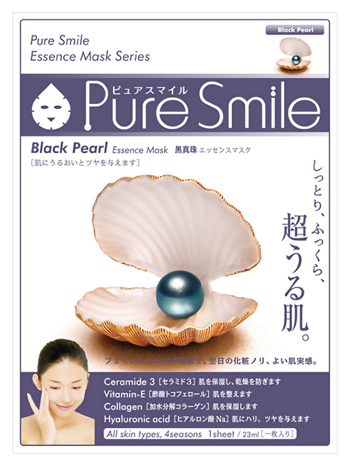 Маска для лица SUNSMILE Pure Smile Essence Mask Black Pearl 23 мл фото