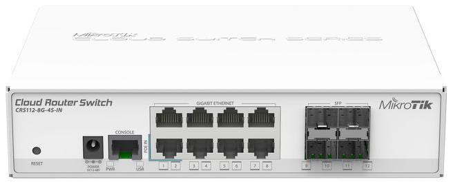 Коммутатор Mikrotik CRS112 8G 4S IN White