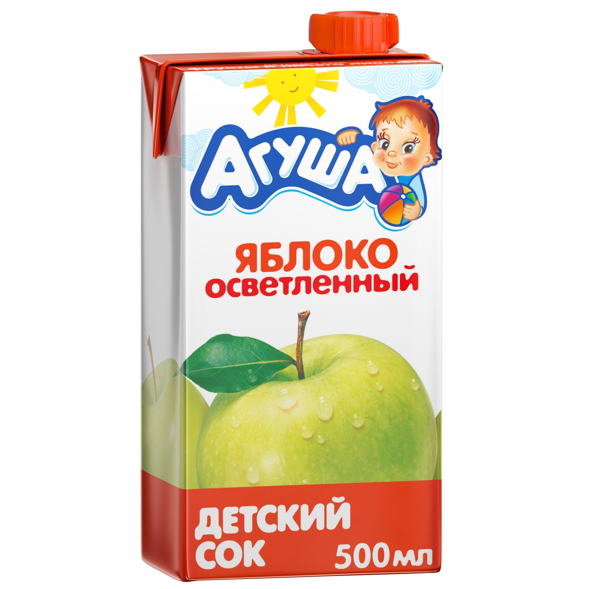 Сок Агуша Яблоко осветленное с 3