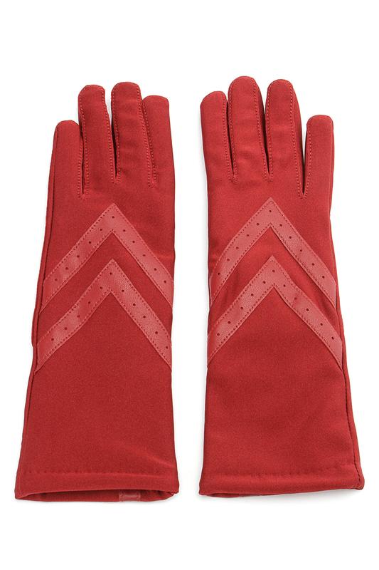 Перчатки женские Isotoner 68268 красные ONE SIZE