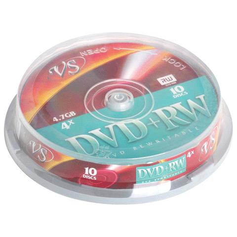 Диски DVD+RW VS, 4,7 Gb, 4x, VSDVDPRWCB1001,