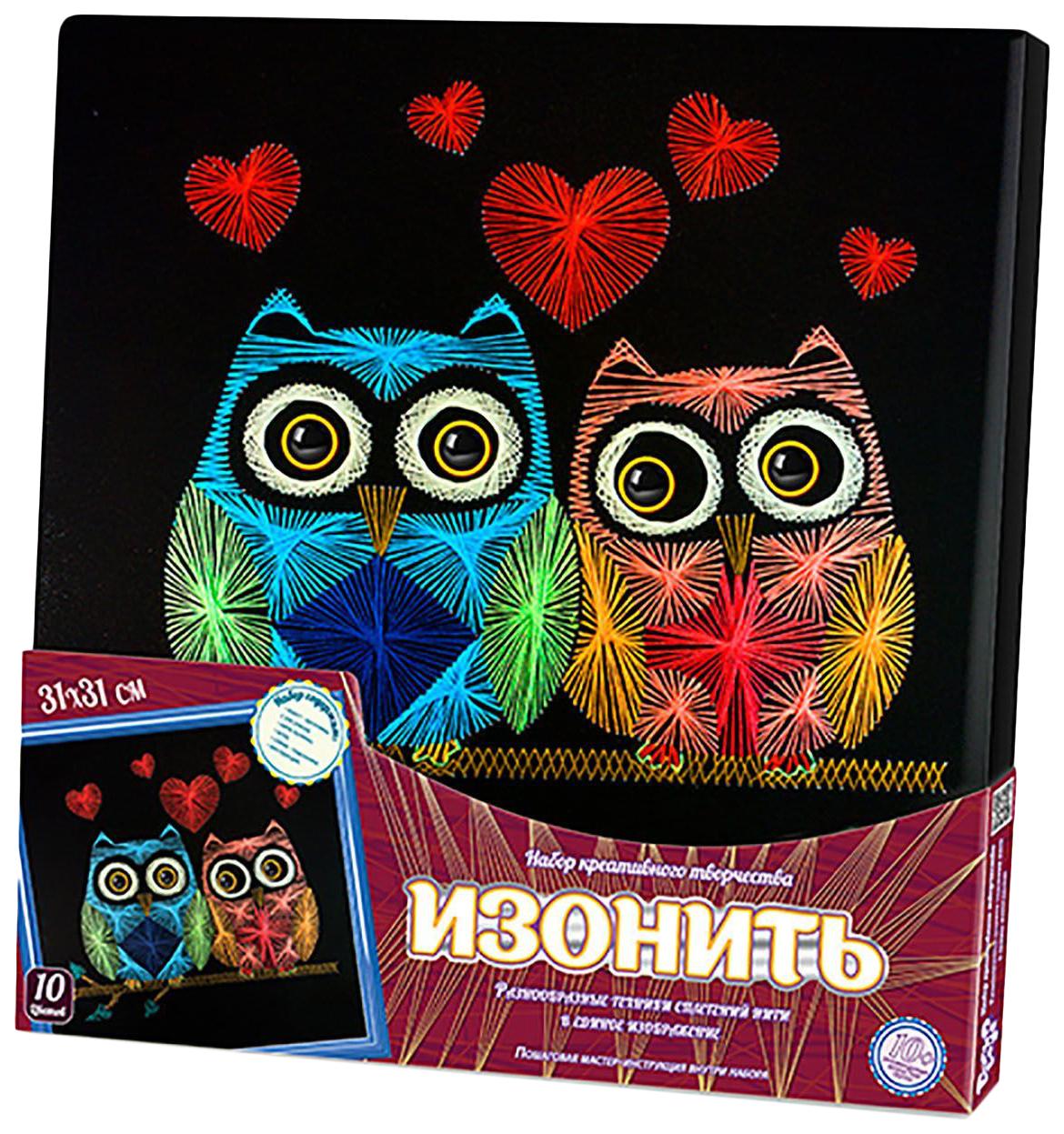 Купить Набор для творчества Изонить. Влюблённые совы Данко Тойс / Danko Toys, Рукоделие