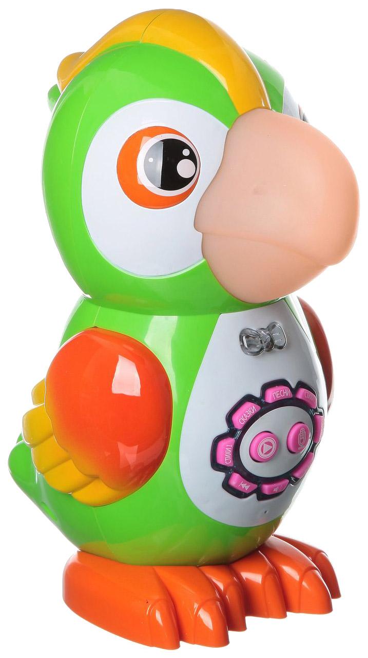 Купить PLAY SMART Умный попугай Play Smart, 6 функций, свет, звук Б60656, PLAYSMART, Интерактивные животные