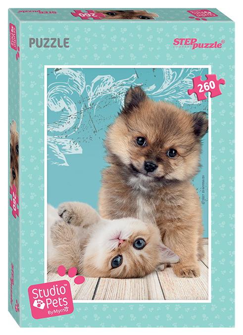 Купить Пазл Studio Pets - Щенок и котенок, 260 элементов Step Puzzle, Пазлы