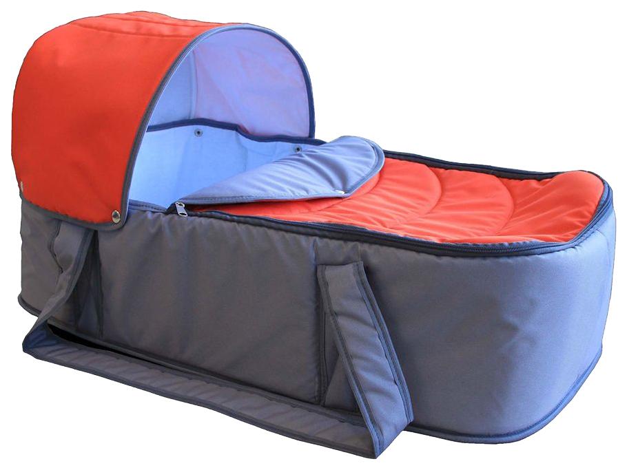 Люлька для коляски Карапуз Кокон оранжевый, серый
