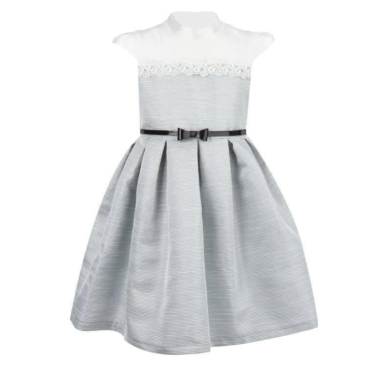 Купить 1539, Платье Марсель UNONA D'ART, цв. серый, 128 р-р, Платья для девочек