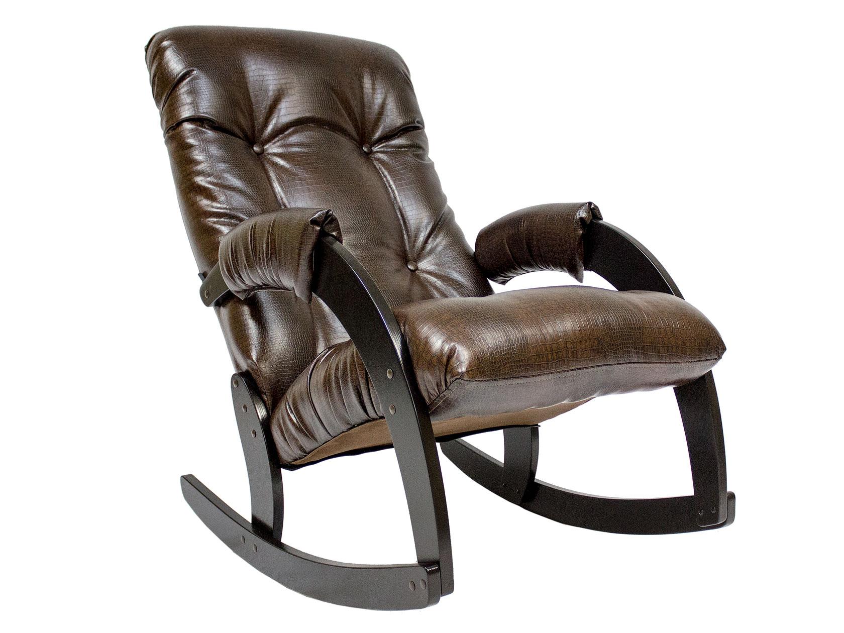 Кресло-качалка Мебель Импэкс Кресло-качалка Комфорт Модель 67 венге, Antic Crocodile