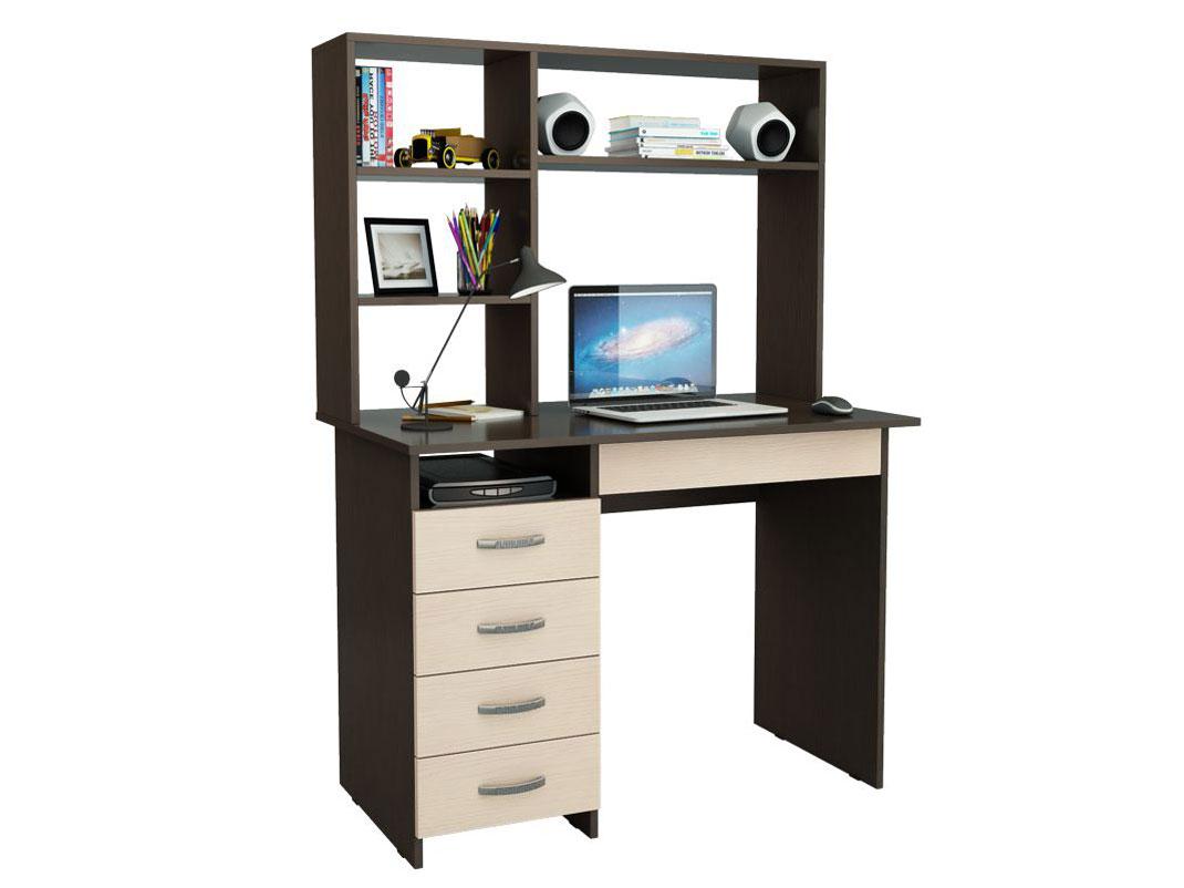 Компьютерный стол МФ Мастер Милан-1 110x60x145, венге/дуб молочный