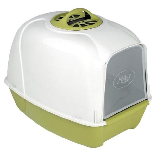 Туалет для кошек MPS Pixi, прямоугольный, зеленый, белый, 52х39х39 см