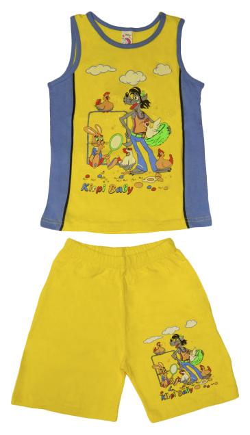 Купить KR-647, Комплект для мальчика Kirpi Baby (цвет: желтый/голубой, рост 116 см), Детские костюмы