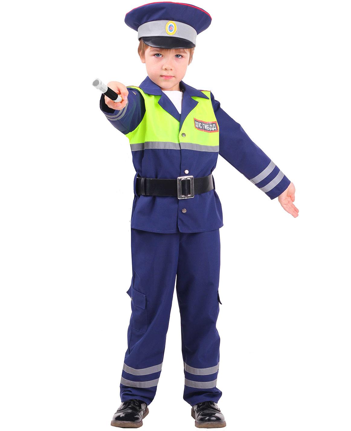 Купить 7001, Карнавальный костюм Батик Инспектор ДПС, цв. синий р.134,