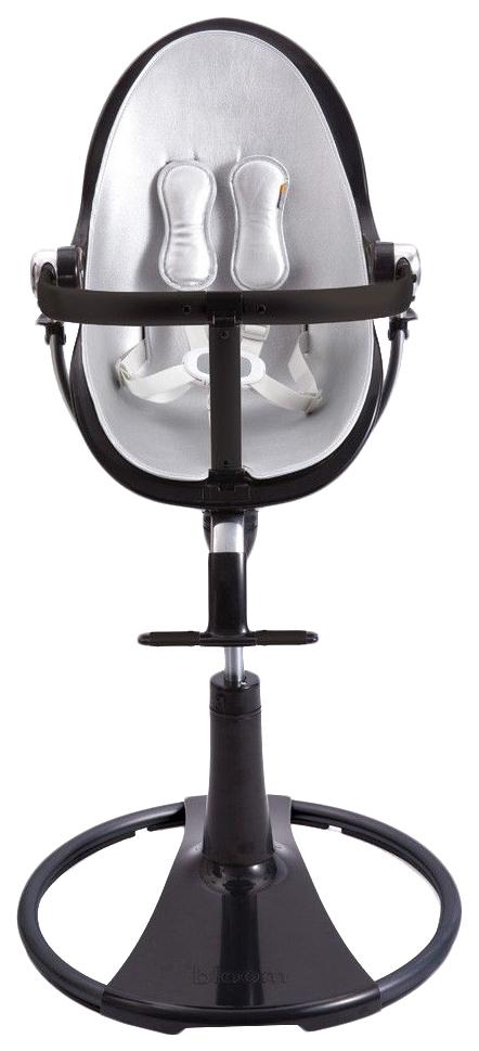 Купить Стульчик для кормления BLOOM Fresco chrome NOIR черный, вкладыш серебро, Стульчики для кормления