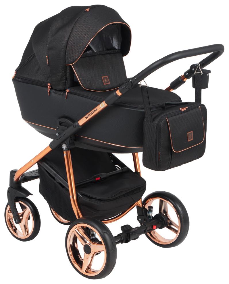 Купить Коляска 2 в 1 Adamex Barcelona Special Edition BR-603 цвет черный, Детские коляски 2 в 1
