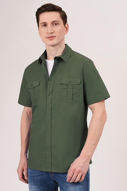 Рубашка мужская Tom Farr T M7004.47 зеленая S