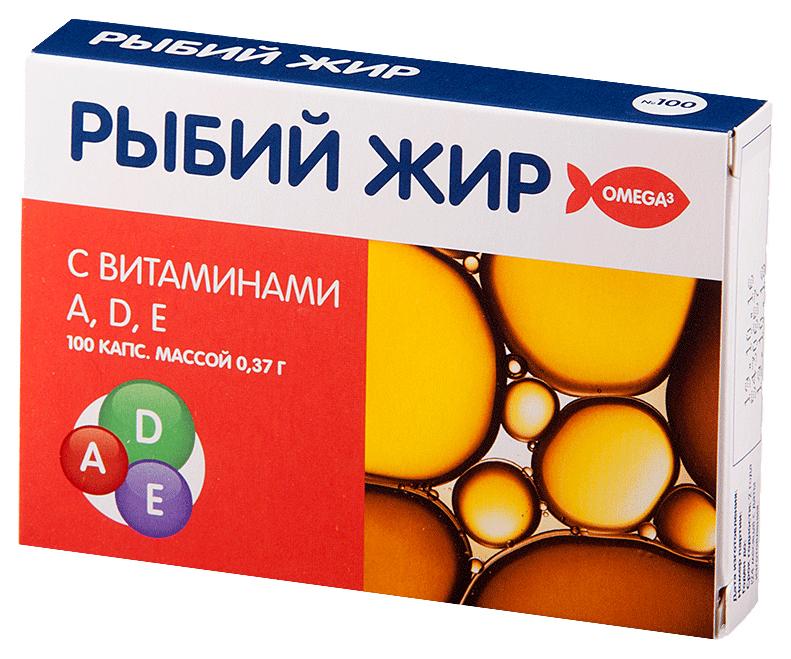 Купить Мелиген Рыбий жир с витаминами А, Д, Е, Рыбий жир PL с витаминами А Д Е капсулы 100 шт.