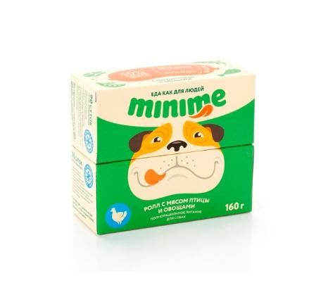 Консервы для собак MiniMe, породы малого размера, роллы с курицей, 100г фото