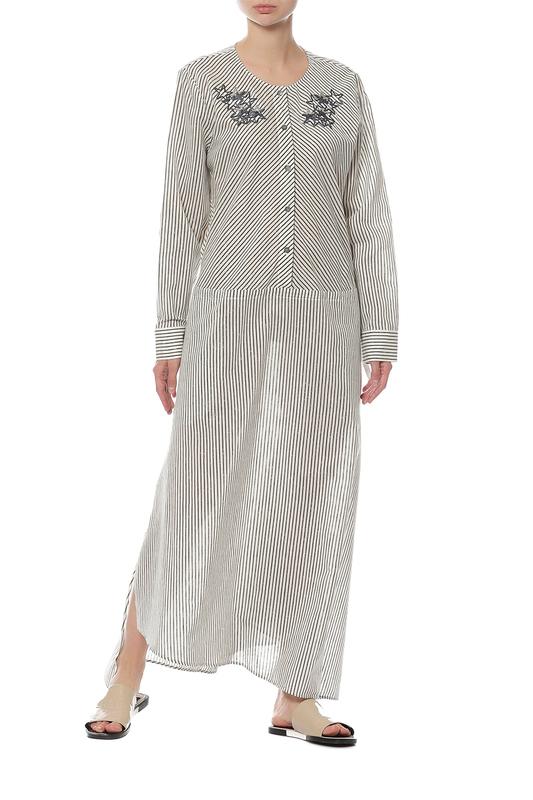Платье женское LORENA ANTONIAZZI LP3329X1/2714/0001 бежевое 44 IT