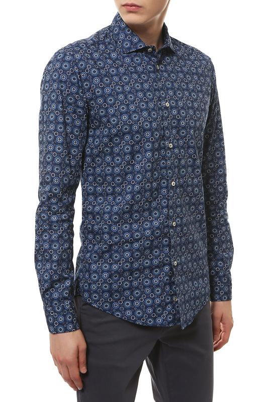 Рубашка мужская BRIAN DALES BS50W ST6960.001 синяя 40 IT