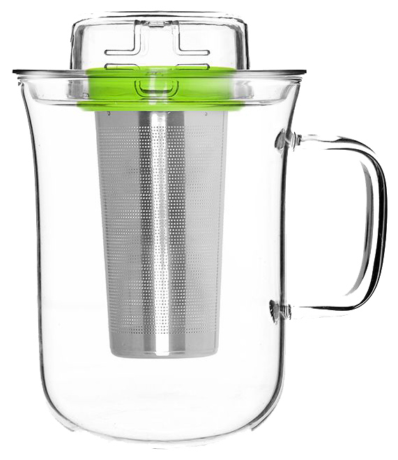 Кружка с заварочной емкостью QDO Me Cup 5676509GR