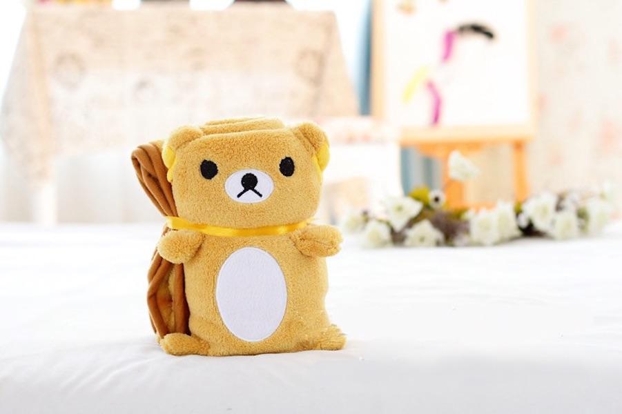 Купить Плед-игрушка медвежонок 100х80 см, Плед-игрушка Медвежонок 100х80 см, Beitalun, Детские пледы