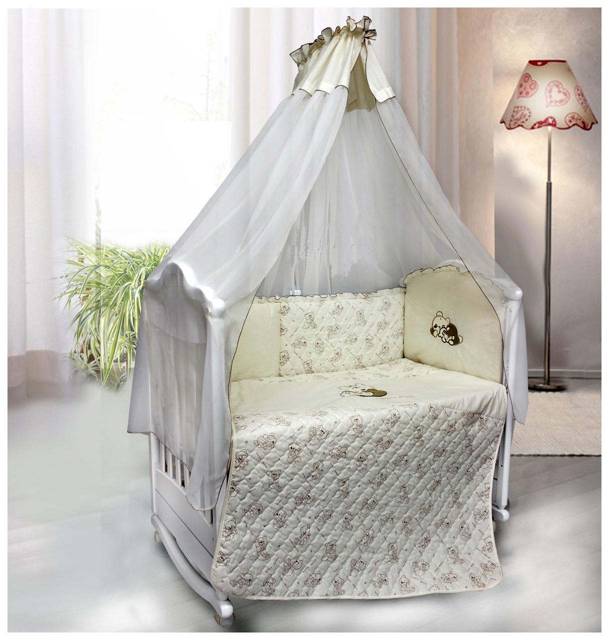 Купить Bombus , 6 предметов, Комплект детского постельного белья Bombus BOMBUS 5973, Комплекты детского постельного белья