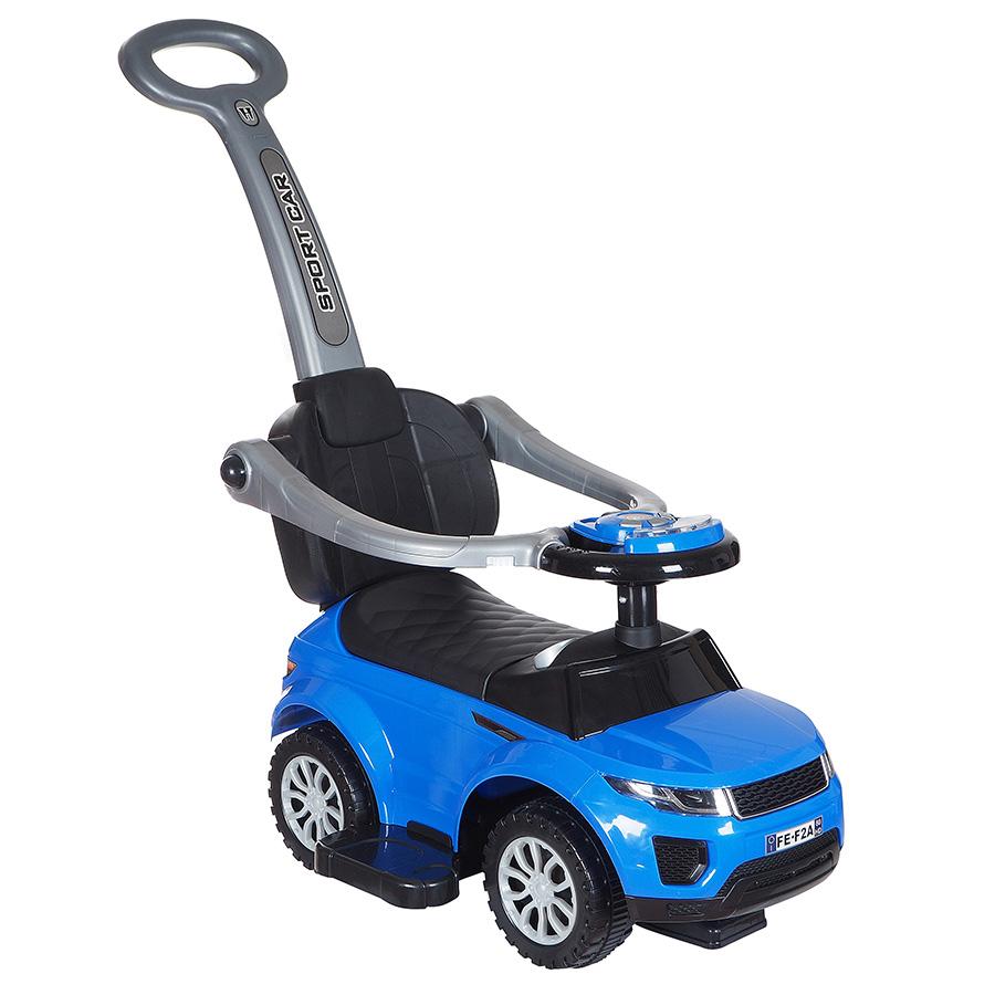 Купить Средняя, Машина-каталка Tommy ROC 107 синий, Каталки детские