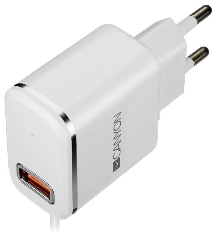 Сетевое зарядное устройство Canyon 1 USB/Lightning 2,1A