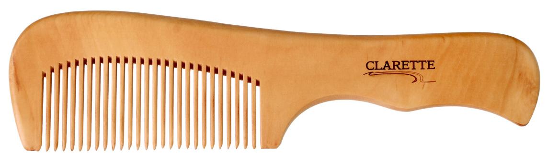Расческа CLARETTE деревянная с ручкой