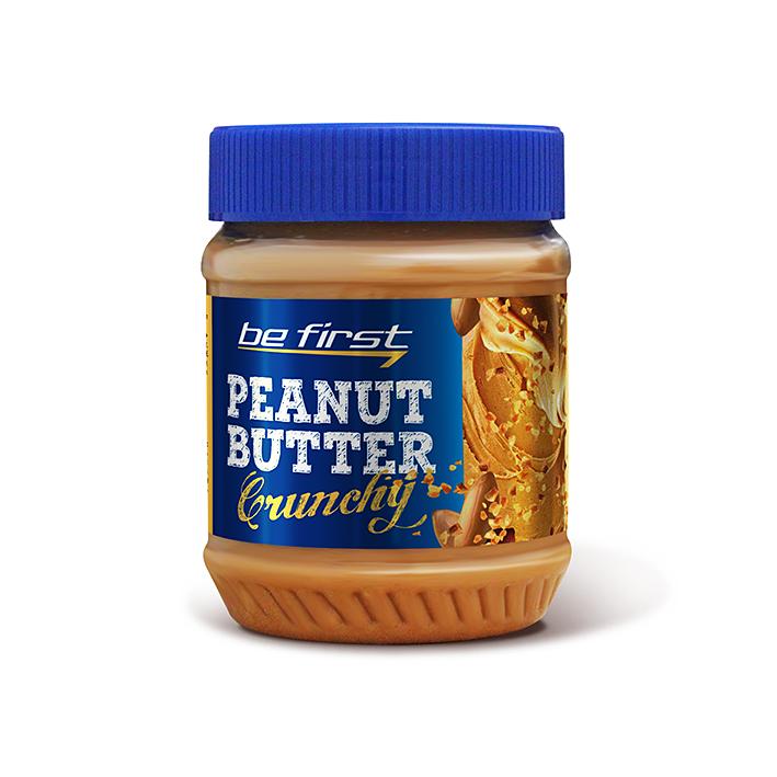 Арахисовая паста Be First Crunchy (с дробленым арахисом), 340 г фото