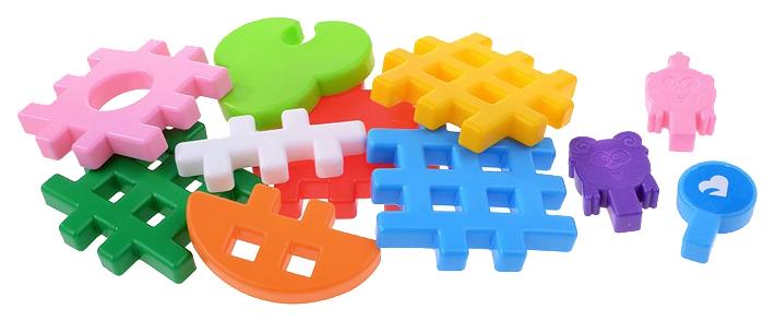 Купить Игрушки, Конструктор пластиковый Полесье Смешарики - Домики Нюши и Бараша, Конструкторы пластмассовые