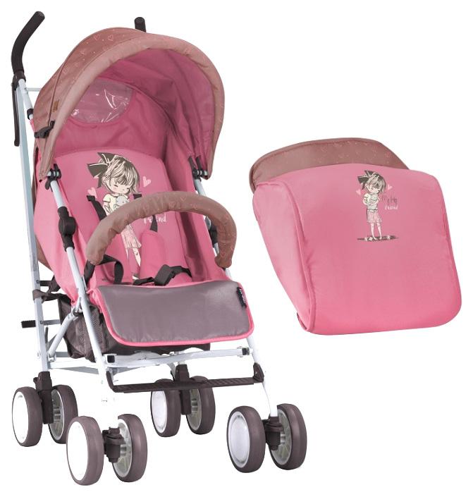 Коляска трость Lorelli Fiesta Бежево розовый, Biege&Pink