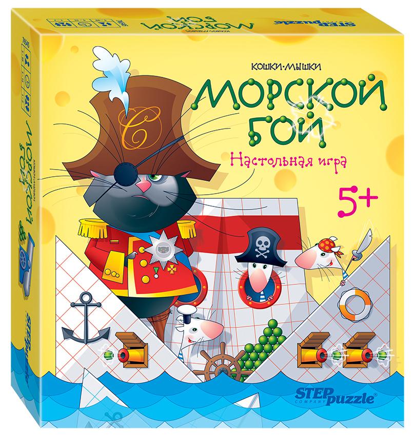 Семейная настольная игра Step Puzzle Кошки-мышки Морской бой