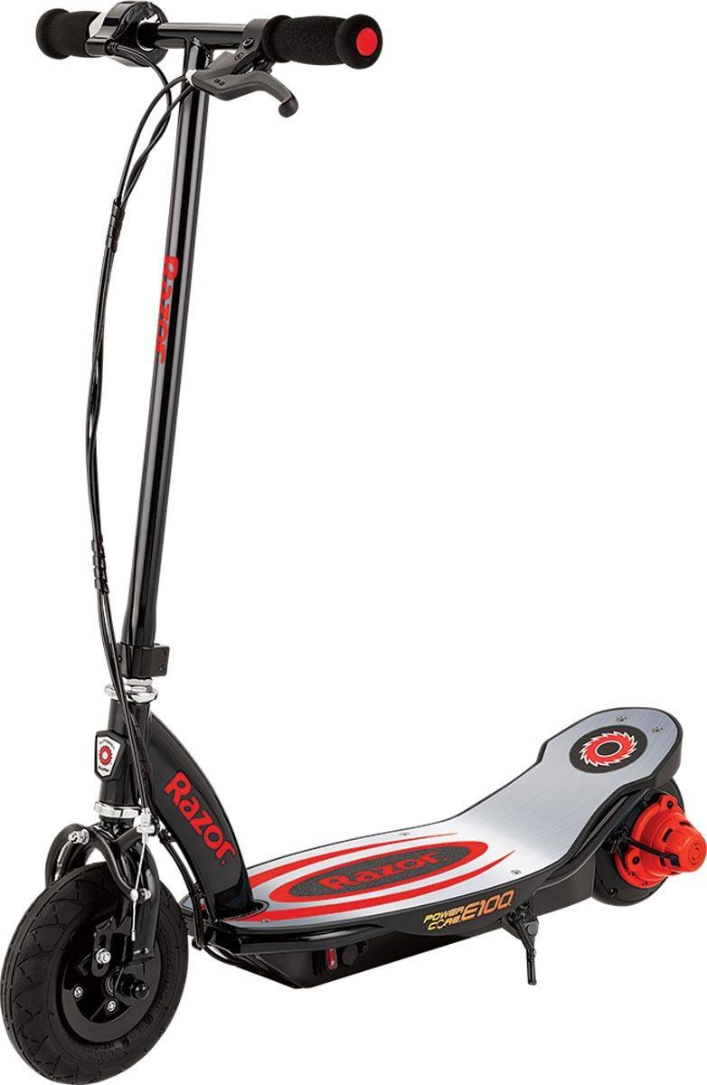 Купить Электросамокат Razor Power Core E100 Aluminium Deck черно-красный, Детские электросамокаты