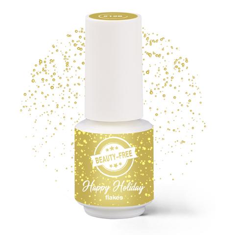 Купить Гель-лак BEAUTY-FREE Happy Holiday Сусальное золото №128, 4 мл