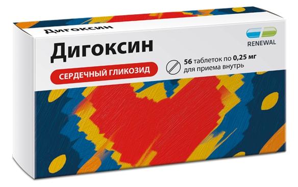 Купить Дигоксин таблетки 0, 25 мг 56 шт., Renewal