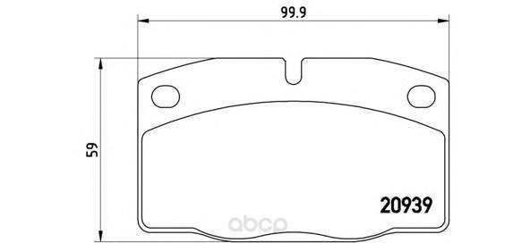 Тормозные колодки дисковые brembo P59005